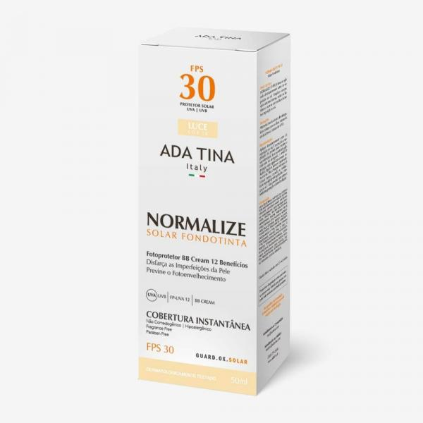 Protetor Solar Ada Tina Normalize FPS 30 50ml - Luce Cor 10