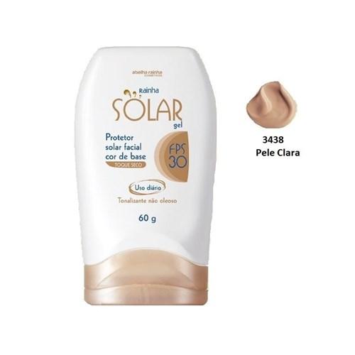 Protetor Solar Facial Cor de Base Pele Clara Fps-30 Rainha Solar Abelh...