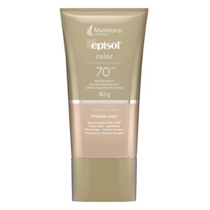 Protetor Solar Facial Mantecorp Skincare Fps 70 Episol Color Extra Clara