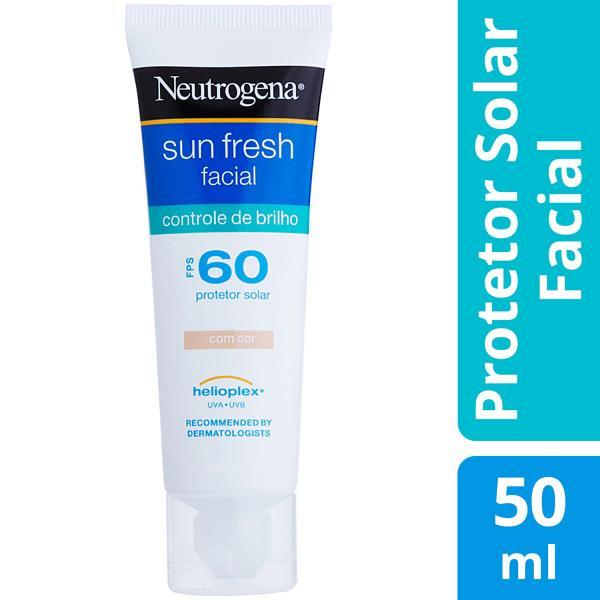 Protetor Solar Facial Neutrogena FPS 60 Sun Fresh - Facial Controle de Brilho com Cor 50ml