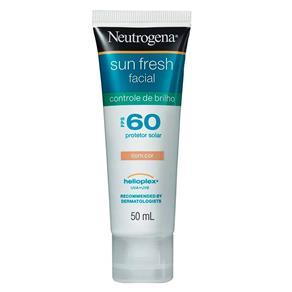 Protetor Solar Facial Neutrogena Sun Fresh com Cor Controle de Brilho FPS 60 - 50ml