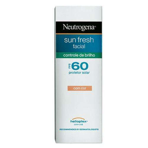 Protetor Solar Facial Neutrogena Sun Fresh Controle Brilho Fps60 50ml