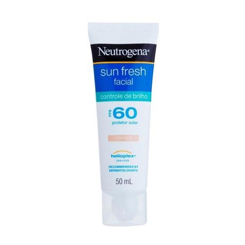Protetor Solar Facial Neutrogena Sun Fresh Controle do Brilho com Cor FPS 60 50g