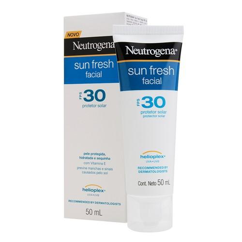 Protetor Solar Facial Neutrogena Sun Fresh FPS 30 Loção com 50ml