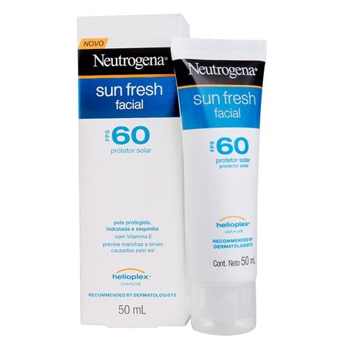 Protetor Solar Facial Neutrogena Sun Fresh FPS 60 Loção com 50ml