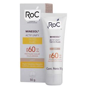 Protetor Solar Facial Roc Minesol Actif Unify Tinted Fluid Light FPS60 - 50g