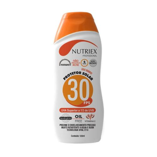Protetor Solar FPS 30 120ML Bisnaga NUTRIEX
