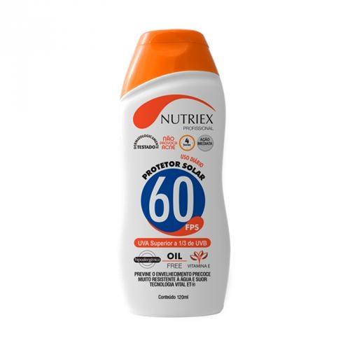 Protetor Solar Fps60 120 Ml - Nutriex
