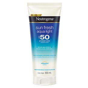 Protetor Solar Neutrogena Sun Fresh Aqua Light FPS50 200ml