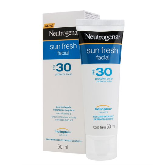 Protetor Solar Neutrogena Sunfresh Facial Fps30 50ml