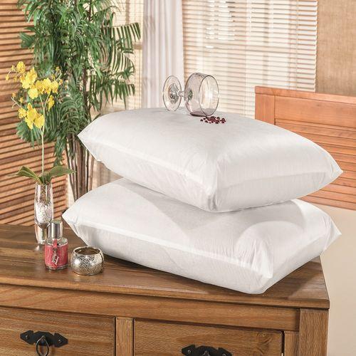 Protetor Travesseiro Impermeável 2 Peças Branco