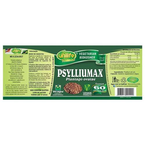 Psyllium Psylliumax 60 Capsulas