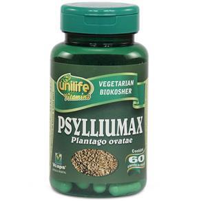 Psylliumax 550mg Psyllium - Unilife - Natural - 60 Cápsulas