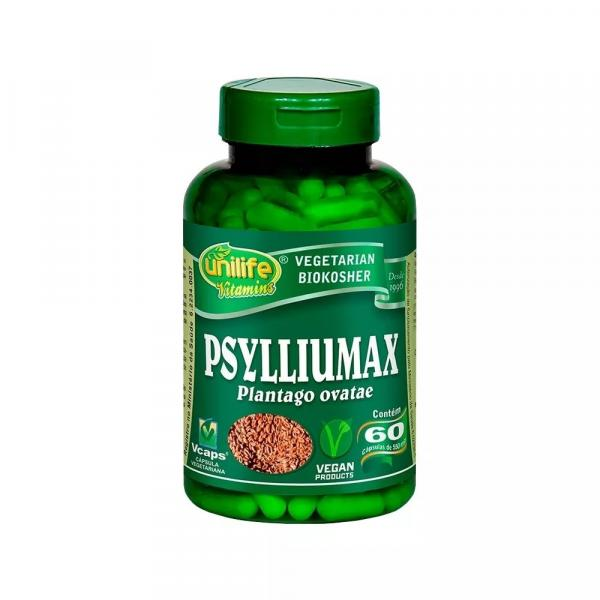 Psylliumax Psyllium 60 Cápsulas 550mg Unilife