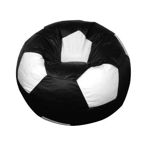 Puff Bola Futebol Cheio - Preto e Branco