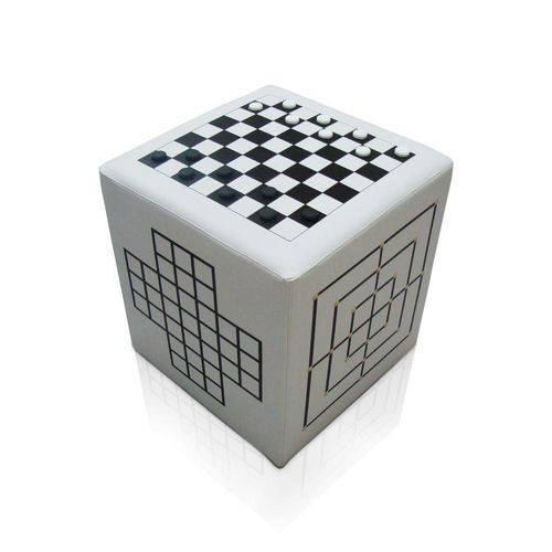 Puff Cubo Jogos Preto e Branco