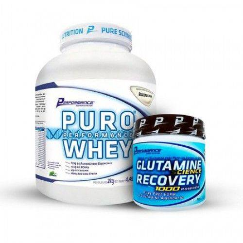 Tudo sobre 'Puro Performance Whey 2kg + Glutamina - Performance Nutrition'
