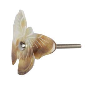 Puxador de Borboleta em Madrepérola para Porta - 8x5 Cm