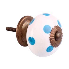 Puxador de Cerâmica 3075 Poa Azul Le Souk Le Souk