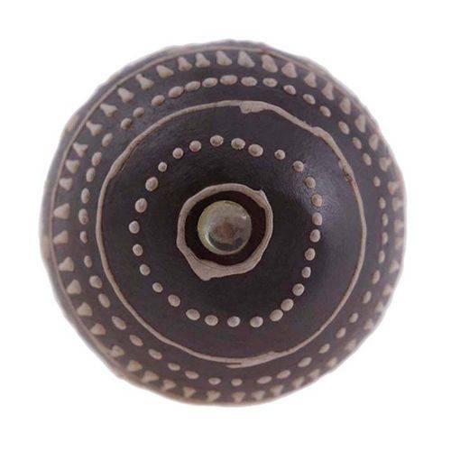 Puxador de Cerâmica 3086 Marrom Le Souk