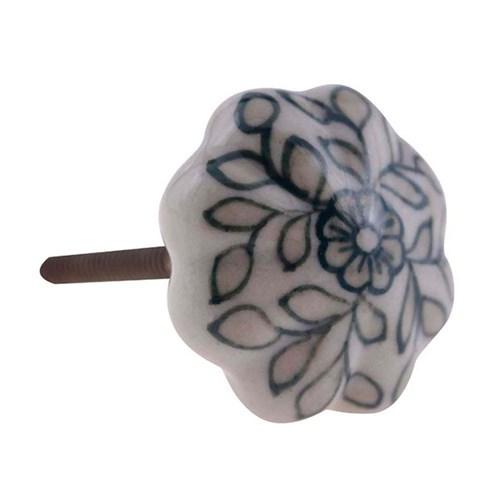 Puxador de Cerâmica 3158 Branco Le Souk Le Souk