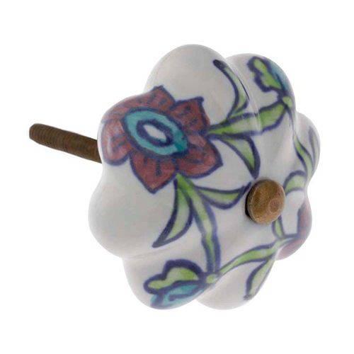 Puxador de Cerâmica 1703 Color Flor Le Souk