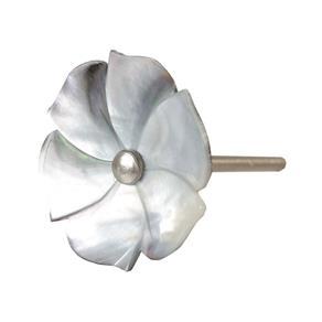 Puxador de Flor em Madrepérola para Porta - 4x7 Cm