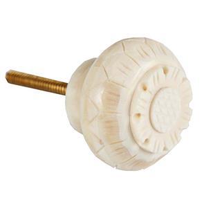 Puxador Porta Osso 3X4 Cm Venus - Branco