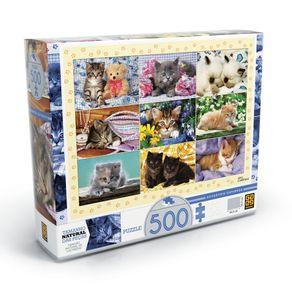 Tudo sobre 'Puzzle 500 Peças Adoráveis Gatinhos'