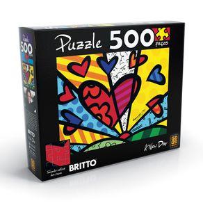 Tudo sobre 'Puzzle 500 Peças Romero Britto - a New Day'