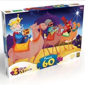 Tudo sobre 'Puzzle 60 Peças Três Reis Magos'