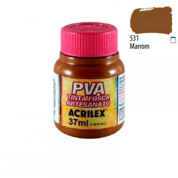 PVA Tinta Fosca P/ Artesanato 37ml Marrom Acrilex 531