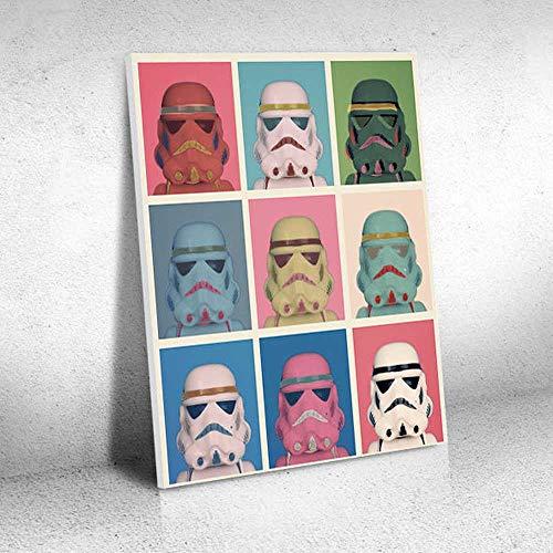Quadro Decorativo - Darth Vader Pop - Quadro 30x40