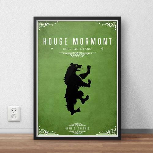 Quadro Decorativo Game Of Thrones - Mormont