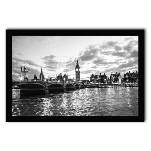 Quadro Decorativo Londres Preto e Branco