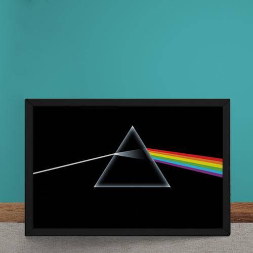 Tudo sobre 'Quadro Decorativo Pink Floyd Dark Side Of The Moon'