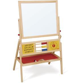 Quadro Educativo Infantil para Giz e Caneta - Vermelho