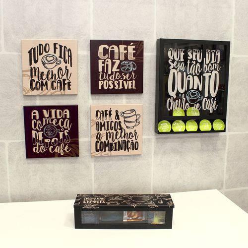 Tudo sobre 'Quadro Porta Cápsulas Cheiro de Café'