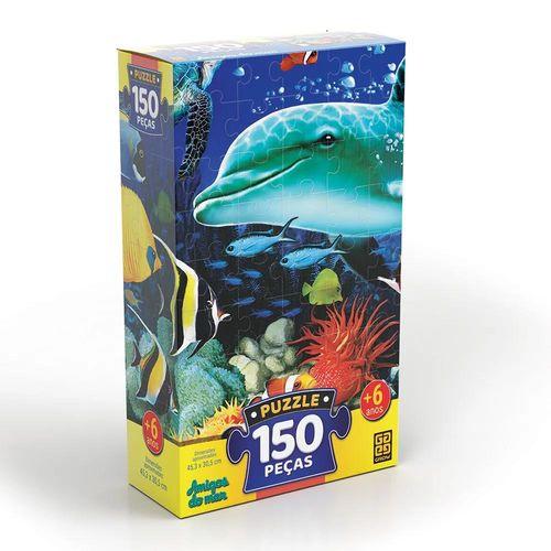 Quebra-cabeça - Amigos do Mar - 150 Peças - Grow