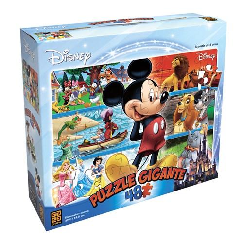 Quebra-Cabeça Gigante Disney 48 Peças Grow 03117