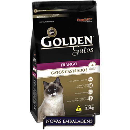 Tudo sobre 'Ração Golden Gato Adulto Castrado - Frango - 3kg'