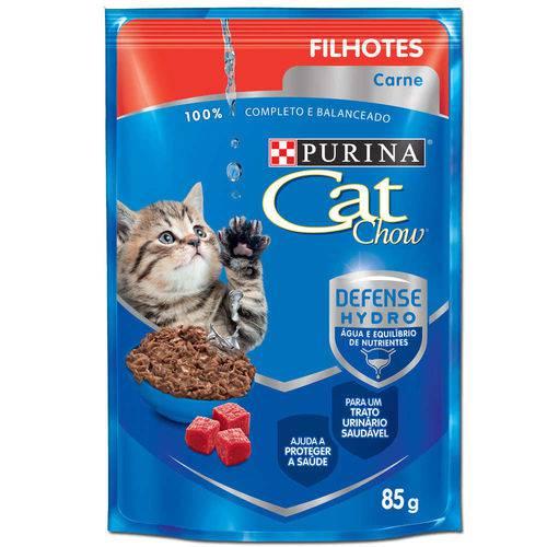 Tudo sobre 'Ração Nestlé Purina Cat Chow Filhotes Sachê Carne ao Molho - 85 Gr'