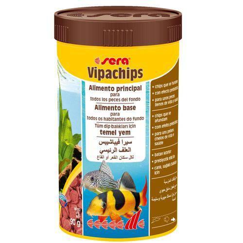 Tudo sobre 'Ração para Peixes Sera Vipachips 90g'