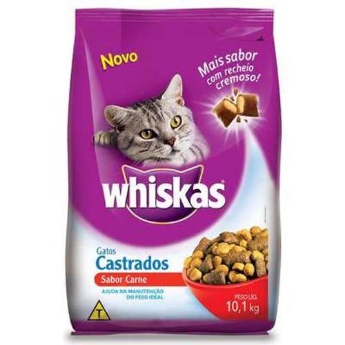 Tudo sobre 'Ração Whiskas Carne Paracastrados'