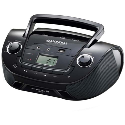 Tudo sobre 'Rádio Portátil Mondial NBX-06 Boom Box Connet Star USB - Preto - Bivolt'