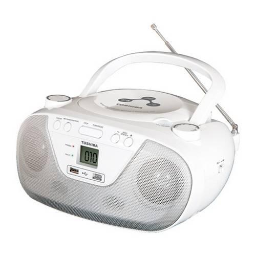 Tudo sobre 'Radio Tr 8003 2w Rms Am Fm Cd Mp3 Usb Branco - Toshiba'