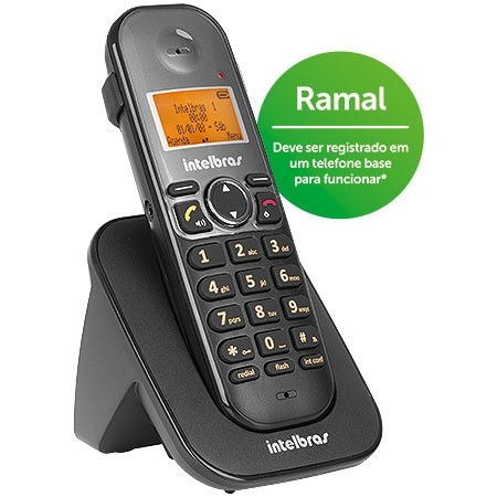 Ramal Telefone Sem Fio Intelbras Ts5121 Preto