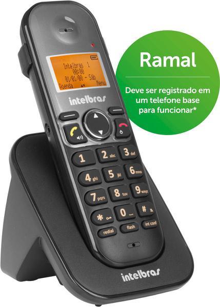 Ramal Telefone Sem Fio Ts 5121 Preto - Intelbras