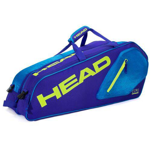 Tudo sobre 'Raqueteira Head Core 6r Azul e Verde Limão'