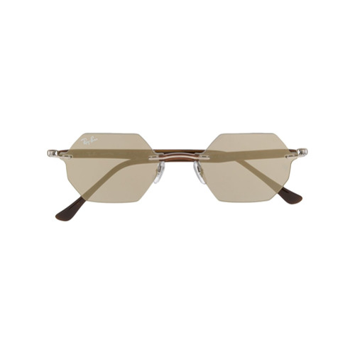 Ray-Ban Óculos de Sol Hexagonal - Prateado